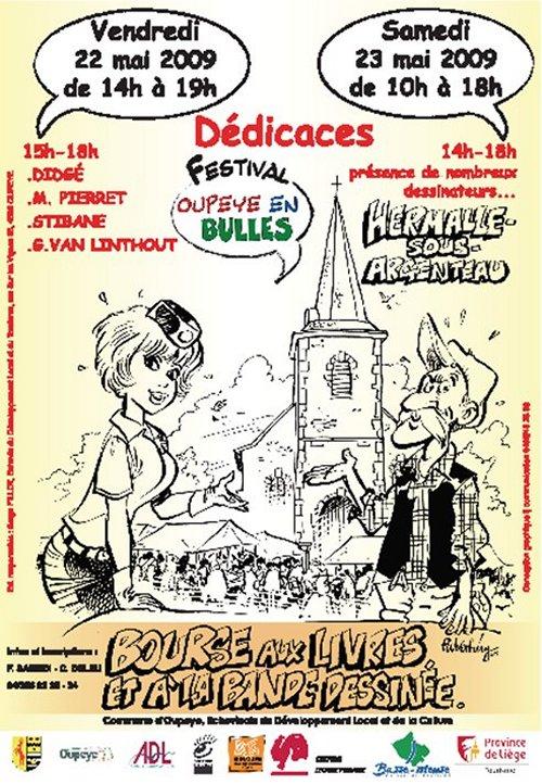 Affiche festival OUPEYE en bulles